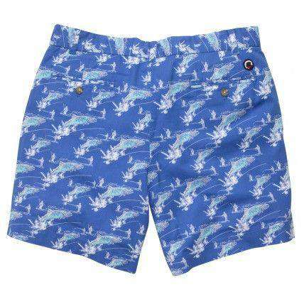WLS Trout Short in Blue by Southern Proper - FINAL SALE