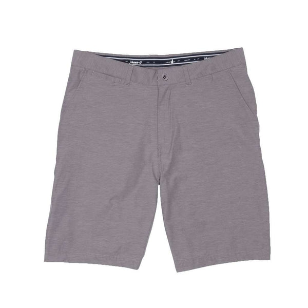 Men's Shorts - Wyatt Prep-Formance Shorts In Steel By Johnnie-O