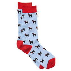 Men's Socks - Black Lab Socks In Blue By Southern Proper
