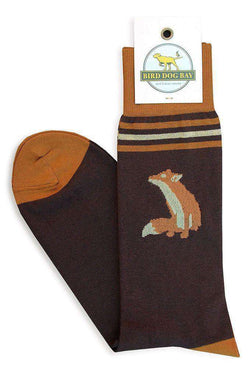 Men's Socks - Fox Sox Sporting Socks In Brown By Bird Dog Bay