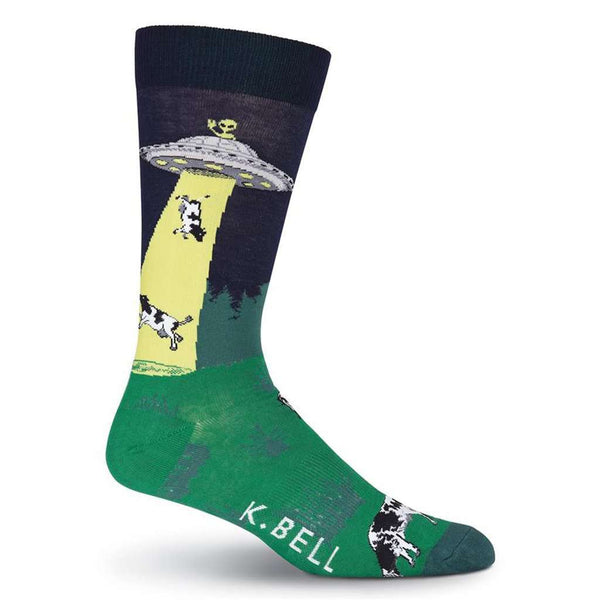 Men's Dairy Thief Crew Socks by K. Bell Socks - FINAL SALE