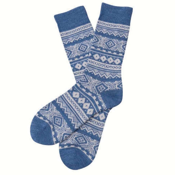 Onso Fairisle Socks in Denim by Barbour