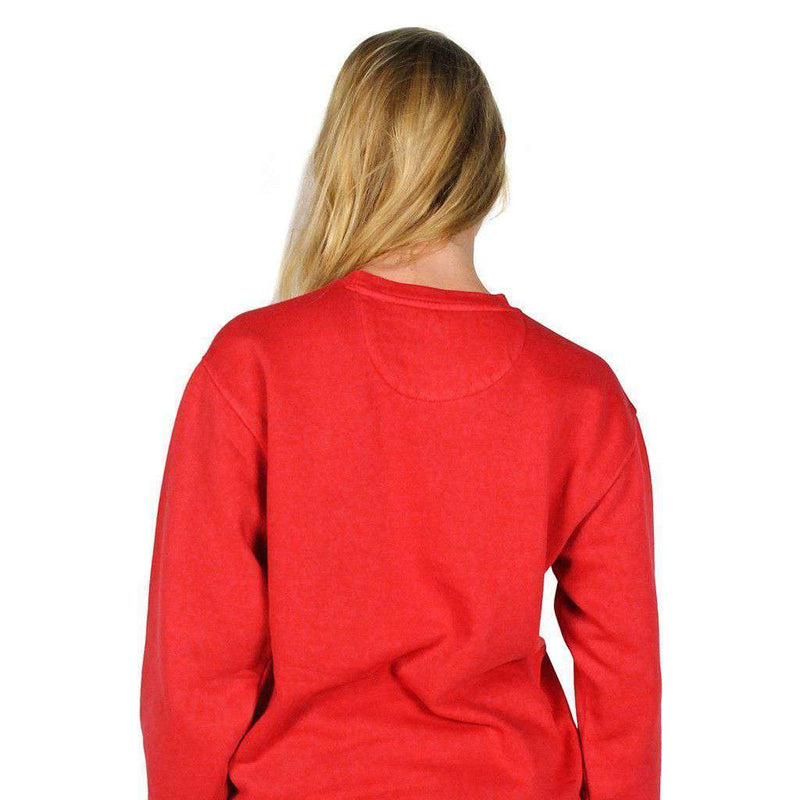 Big Pointer Crew Neck Fleece in Crimson by Southern Fried Cotton