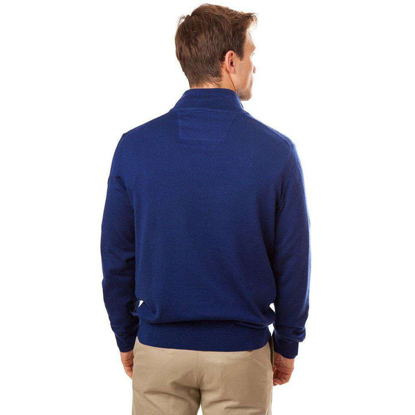 Men's Sweaters - Captains 1/4 Zip Sweater In Blue Depths By Southern Tide