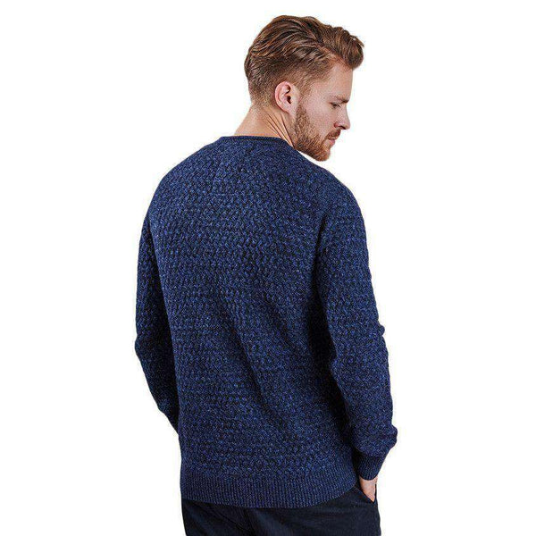 Men's Sweaters - Copeland Crew Neck Lambswool Sweater In Navy By Barbour - FINAL SALE