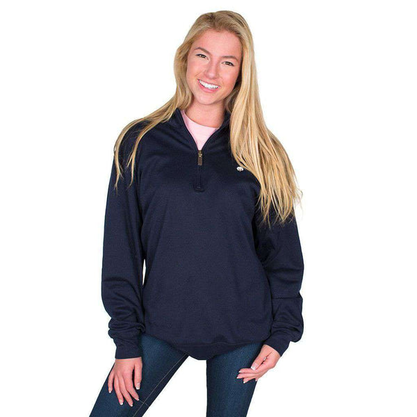 Cotton 1/4 Zip Sweater in Navy by Cotton Brothers - FINAL SALE