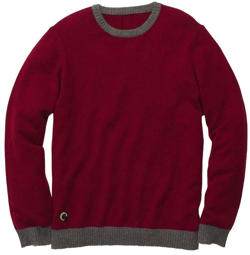 Men's Sweaters - Let-Her Sweater In Crimson And Grey By Southern Proper - FINAL SALE
