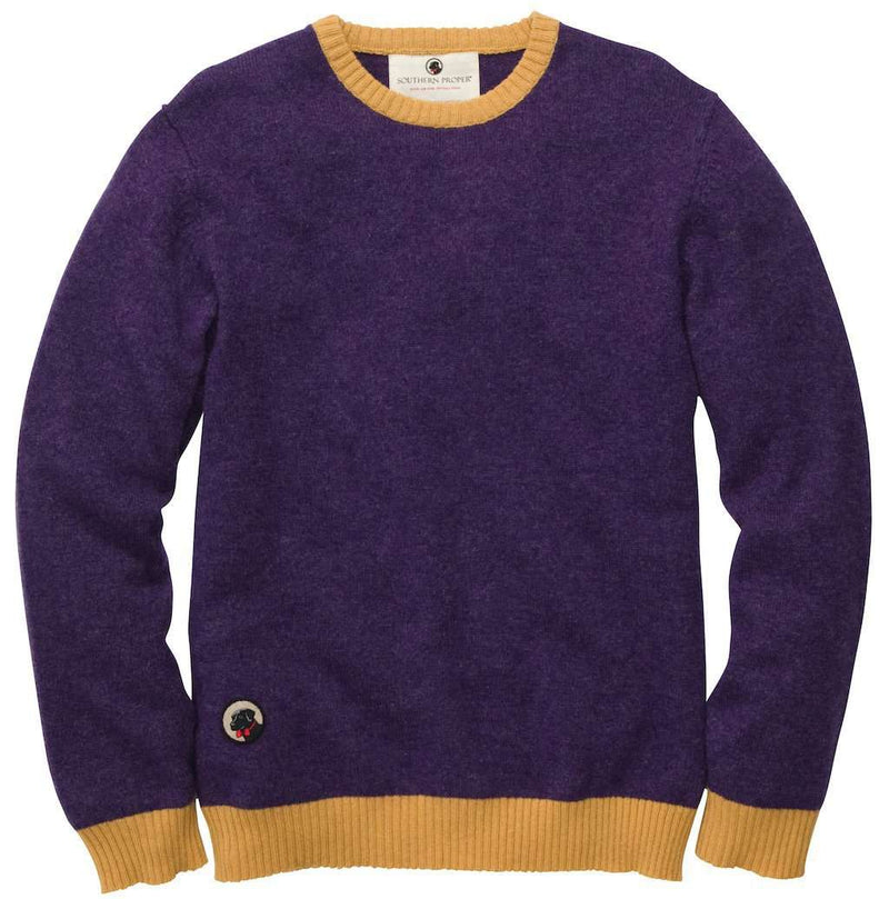 Men's Sweaters - Let-Her Sweater In Purple And Gold By Southern Proper - FINAL SALE