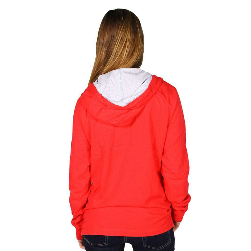 Resort Slub Hoodie in Port Side Red by Southern Tide