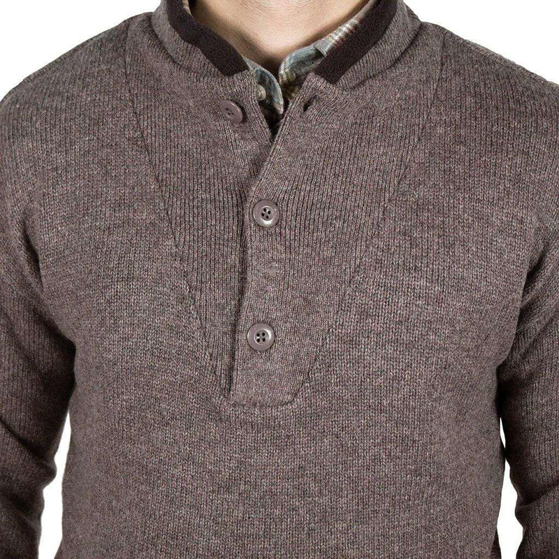 Sportsman Sweater in River Stone by Southern Proper - FINAL SALE