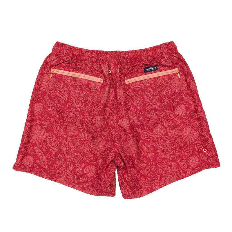 Bali Dockside Swim Trunk in Red by Southern Marsh - FINAL SALE