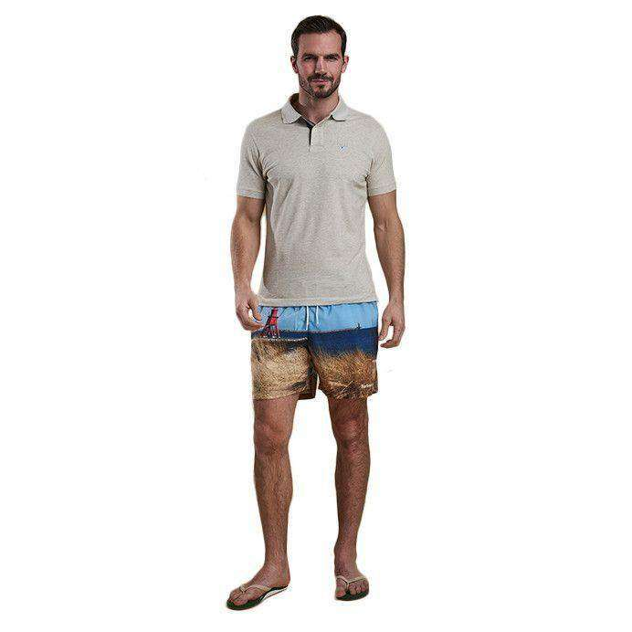 Men's Swimsuits - Beacon Swim Shorts In Blue By Barbour