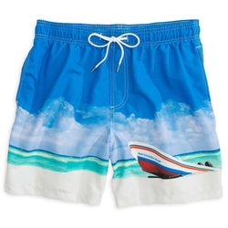 Men's Swimsuits - Bermuda Triangle Swim Trunks By Southern Tide