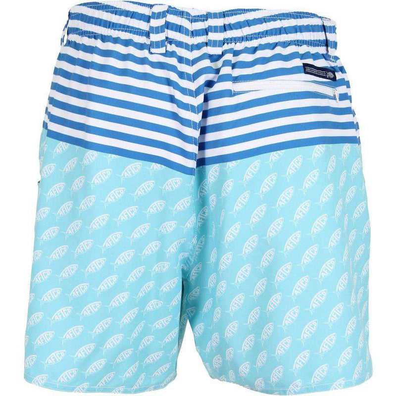 Captain Swim Trunks in Mint by AFTCO - FINAL SALE