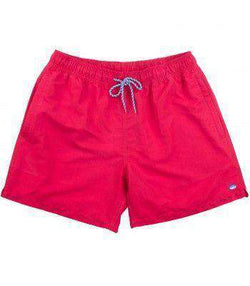 5e538b9503713 Men's Swimsuits - Classic Swim Trunks In Channel Marker Red By Southern Tide