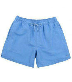 Men's Swimsuits - Classic Swim Trunks In Charting Blue By Southern Tide