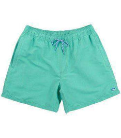 Men's Swimsuits - Classic Swim Trunks In Lagoon Green By Southern Tide