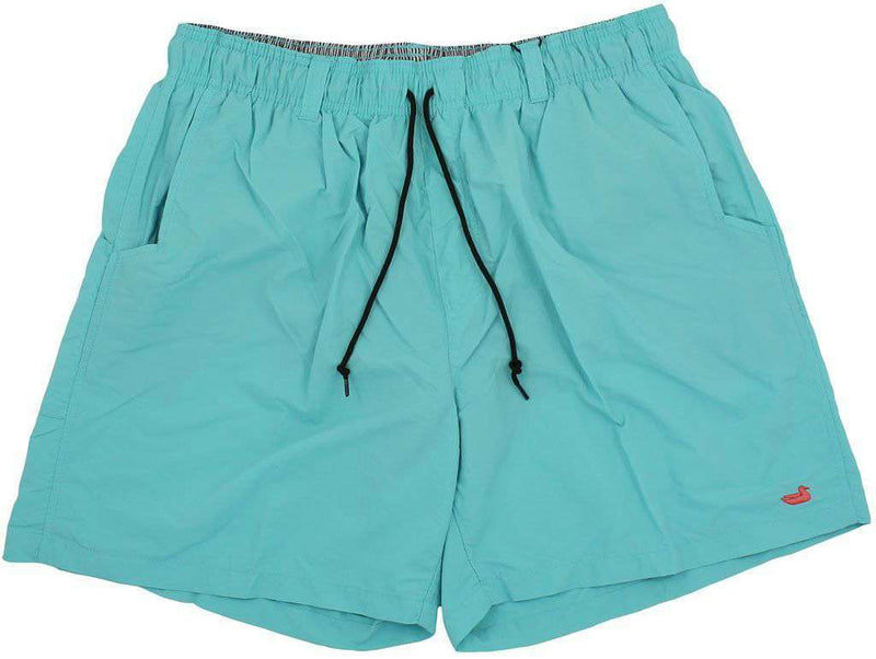 Men's Swimsuits - Dockside Swim Trunk In Aqua Blue By Southern Marsh