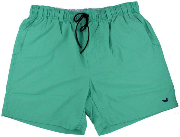 Men's Swimsuits - Dockside Swim Trunk In Bimini Green By Southern Marsh
