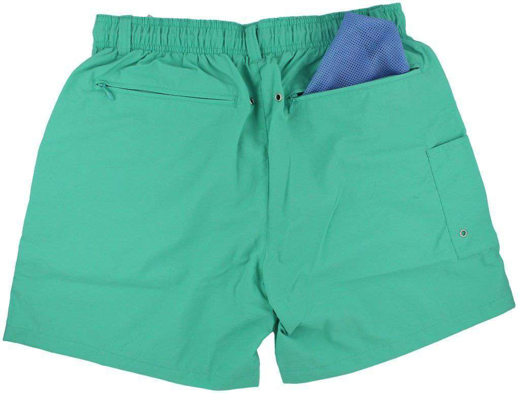 Dockside Swim Trunk in Bimini Green by Southern Marsh