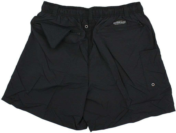 Men's Swimsuits - Dockside Swim Trunk In Black By Southern Marsh