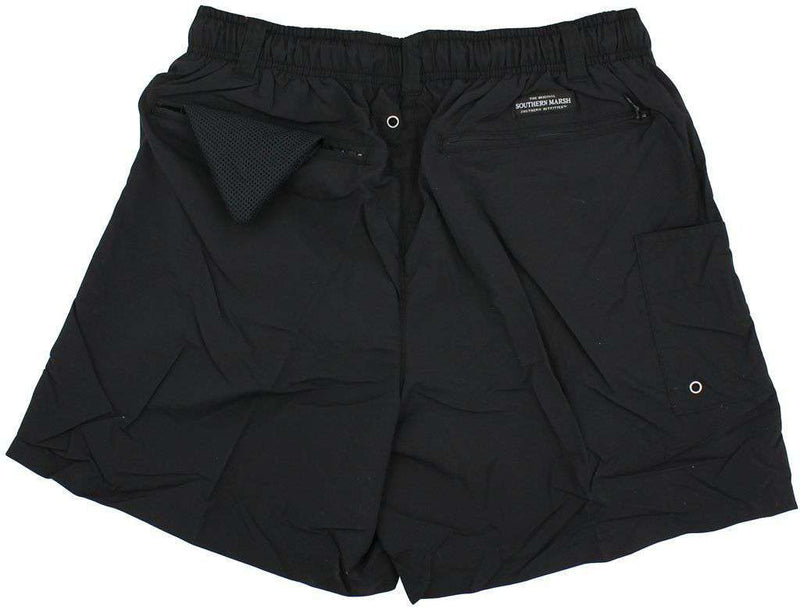 Dockside Swim Trunk in Black by Southern Marsh - FINAL SALE