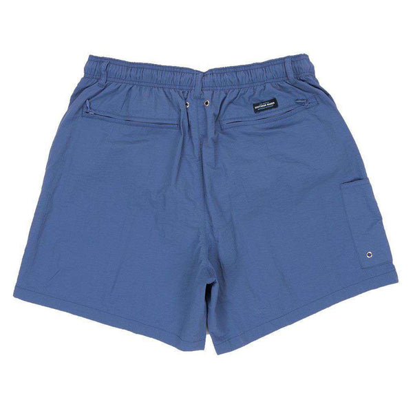 Men's Swimsuits - Dockside Swim Trunk In Bluestone By Southern Marsh