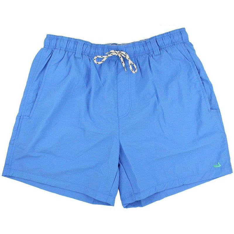 Men's Swimsuits - Dockside Swim Trunk In Breaker Blue By Southern Marsh