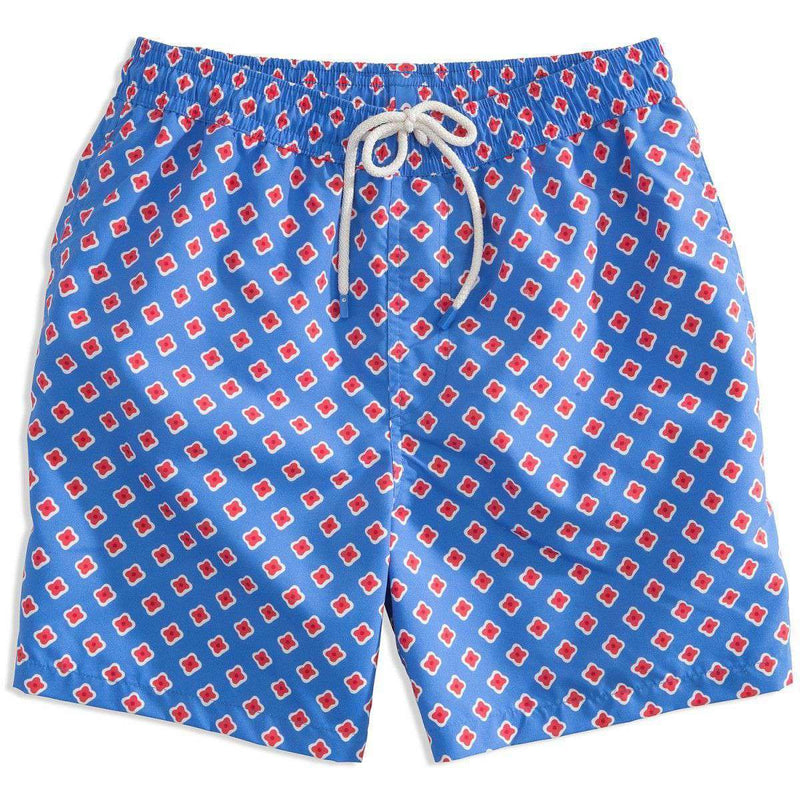 Men's Swimsuits - Dockside Swim Trunk In Cobalt Blue By Southern Tide