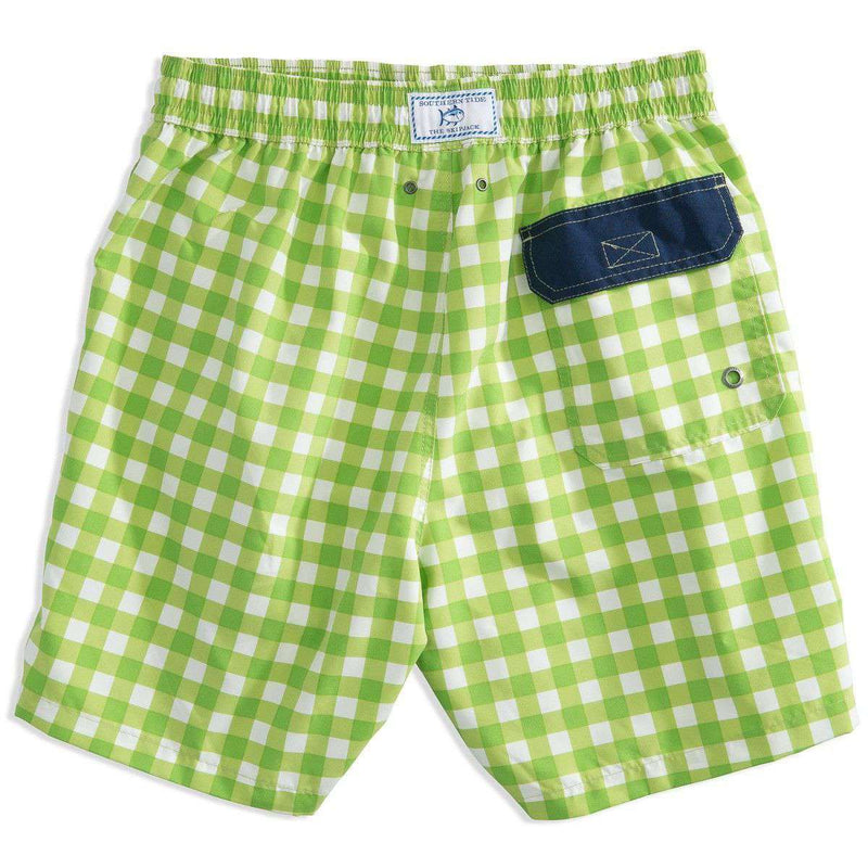 d6183bb8c8 Men's Swimsuits - Gingham Swim Trunks In Green By Southern Tide