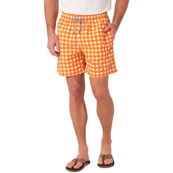 1a2e0cfa0a Southern Tide Gingham Swim Trunks in Orange – Country Club Prep