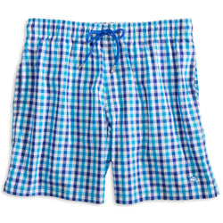 f4a33577e5 Southern Tide Gingham Swim Trunks in Scuba Blue – Country Club Prep