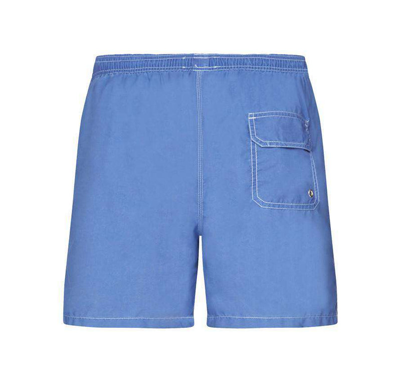 Men's Swimsuits - Laundered Swim Shorts In Fresh Blue By Barbour