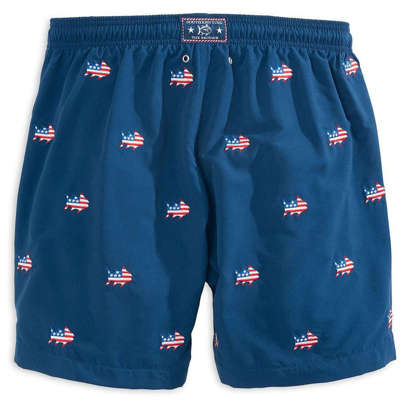 Men's Swimsuits - Oh Say Can You Sea Swim Trunk In Yacht Blue By Southern Tide