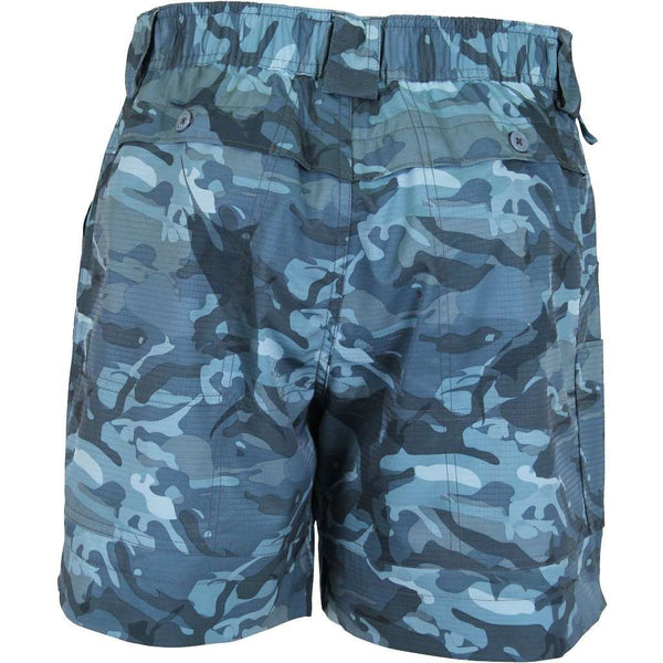 Original Fishing Shorts in Blue Camo by AFTCO - FINAL SALE