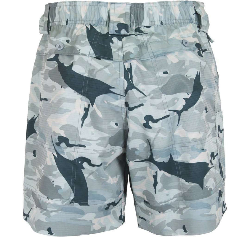 Original Fishing Shorts in Grey Camo by AFTCO - FINAL SALE