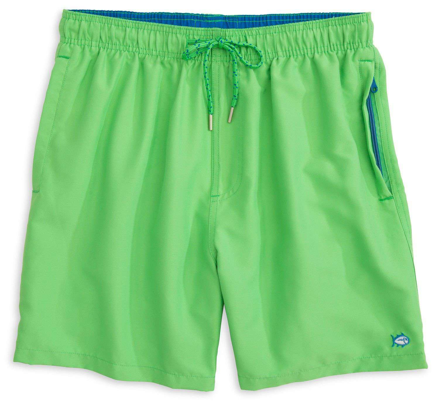e3f9419d4d Southern Tide Solid Swim Trunks in Island Reef Green – Country Club Prep