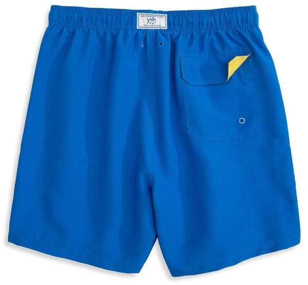 Men\u0027s Swimsuits - Solid Swim Trunks In Royal Blue By Southern ...