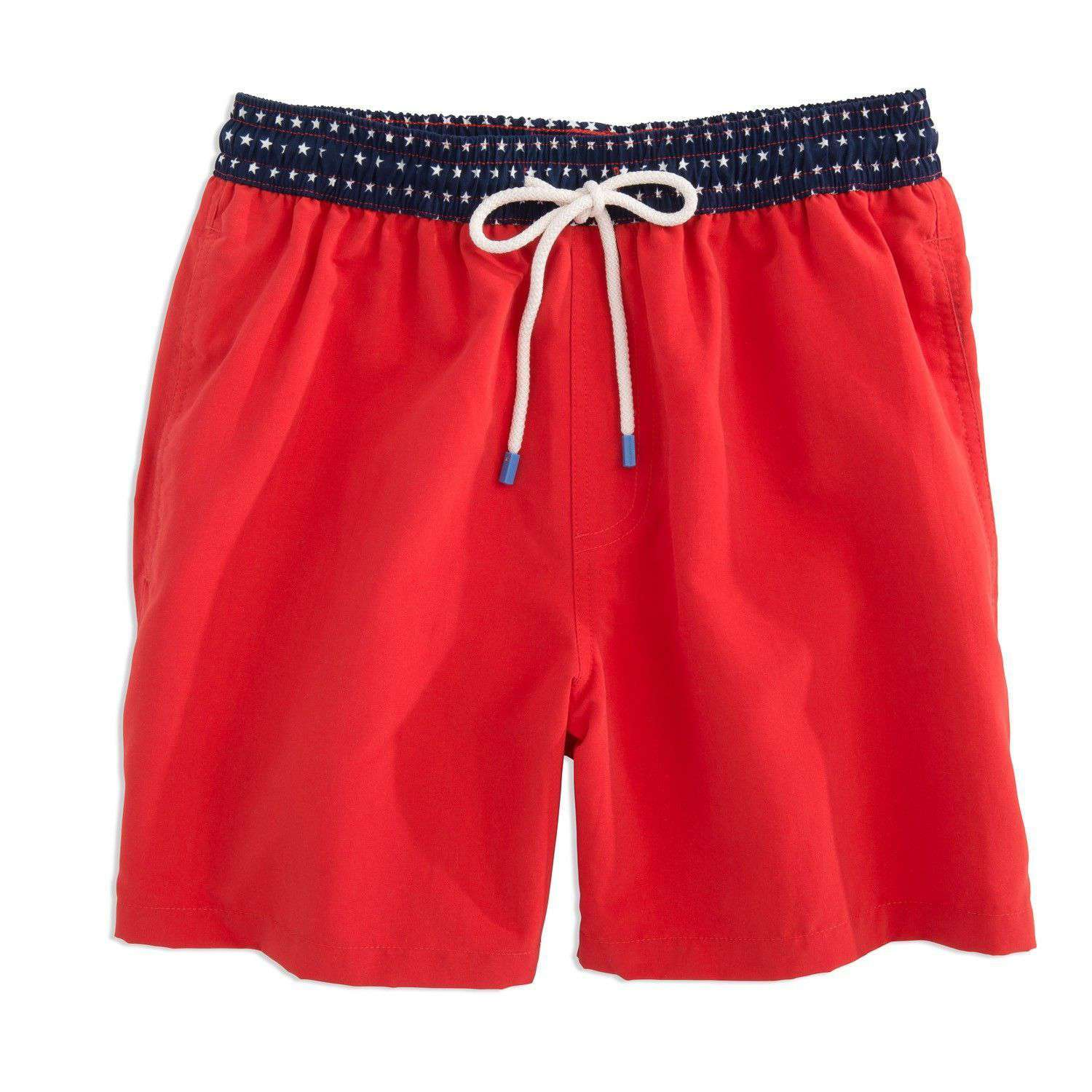 Men's Swimsuits - Stars Swim Trunk In Red By Southern Tide