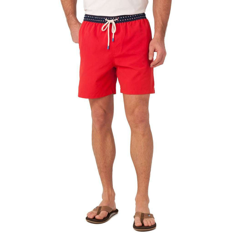 Stars Swim Trunk in Red by Southern Tide
