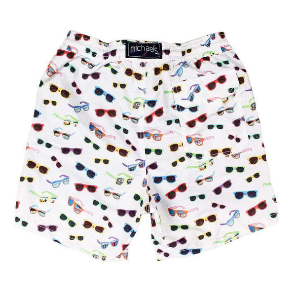 Sunglasses Swim Trunks in White by Michael's - FINAL SALE