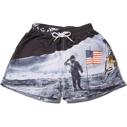 Men's Swimsuits - The Man On The Moons Swim Trunks By Kennedy
