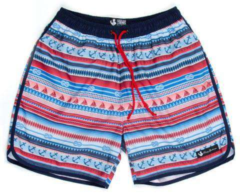 e611b0d1 ... Men's Swimsuits - The Nautical Swim Trunks In Multi-color By Rowdy  Gentleman