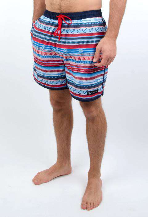 31e61717 Men's Swimsuits - The Nautical Swim Trunks In Multi-color By Rowdy Gentleman  ...