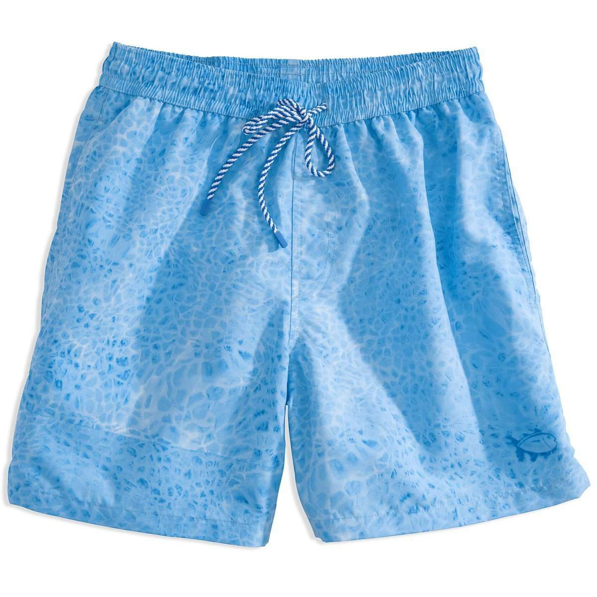 Men's Swimsuits - Tide Pool Swim Trunk In Blue By Southern Tide