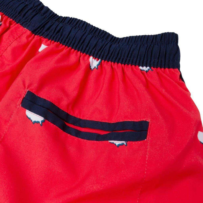 USA Repeating Swim Trunks in Red by Rowdy Gentleman - FINAL SALE