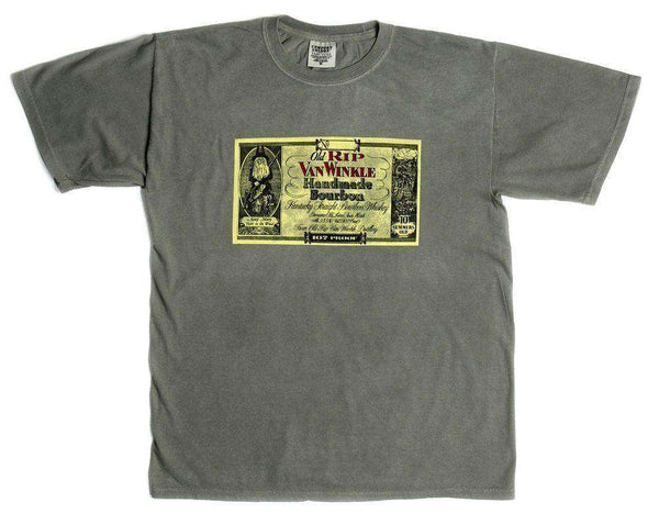 Men's Tee Shirts - 10 Year Label Tee In Grey By Pappy Van Winkle - FINAL SALE