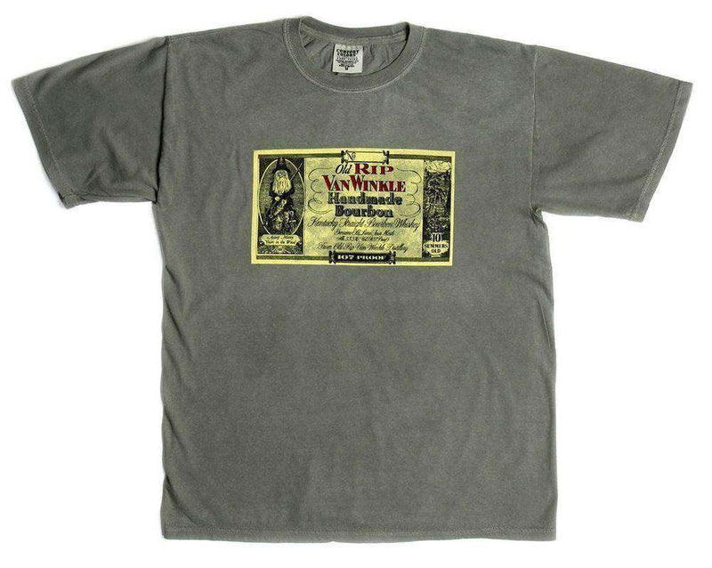 10 Year Label Tee in Grey by Pappy Van Winkle - FINAL SALE