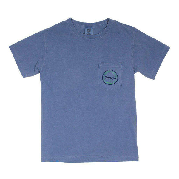 Men's Tee Shirts - 19th Hole Longshanks Tee In Blue Jean By Country Club Prep
