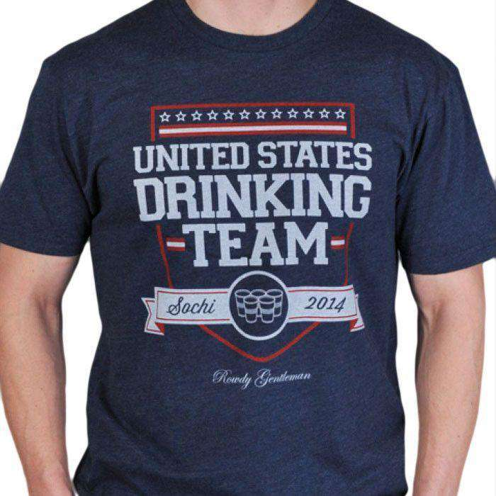 Men's Tee Shirts - 2014 United States Drinking Team Vintage Tee Shirt - Limited Edition - By Rowdy Gentleman - FINAL SALE